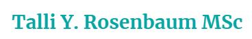 Talli Y. Rosenbaum MSc